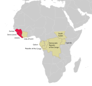 map of ebola virus outbreaks